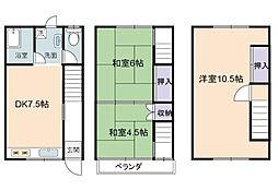 [タウンハウス] 兵庫県加古郡播磨町東本荘1丁目 の賃貸【兵庫県 / 加古郡播磨町】の間取り