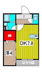 イーストパークURAWA1[1階]の間取り