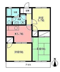 プライムタウン湘南II[102号室]の間取り