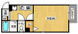 京都府京都市西京区桂上豆田町の賃貸アパートの間取り
