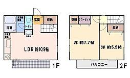 [一戸建] 神奈川県藤沢市亀井野 の賃貸【/】の間取り