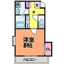 愛媛県松山市松前町2丁目の賃貸マンションの間取り