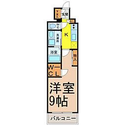 グランドソレイユ名駅[13階]の間取り