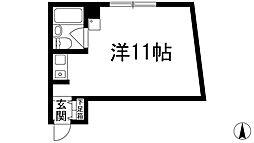 兵庫県宝塚市小林2丁目の賃貸マンションの間取り