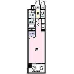 プリムローズ[8階]の間取り