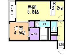 仮)宮の沢1-2MS 4階1LDKの間取り