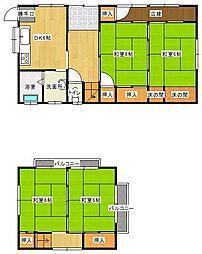 [一戸建] 宮崎県宮崎市本郷北方 の賃貸【/】の間取り