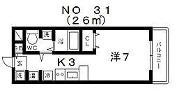 パラッツォ四天王寺[6階]の間取り
