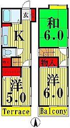 [一戸建] 東京都足立区島根4丁目 の賃貸【/】の間取り