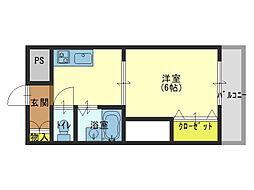 大阪府大阪市生野区新今里2丁目の賃貸マンションの間取り