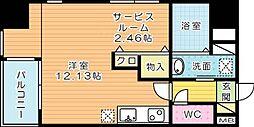 サンシャインⅢ[2階]の間取り
