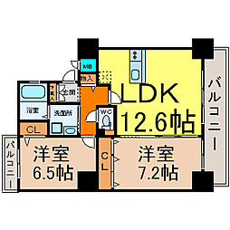 S-FORT北山王[8階]の間取り