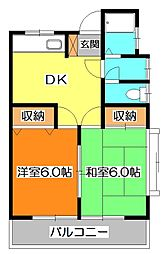 竹丘テラス[2階]の間取り