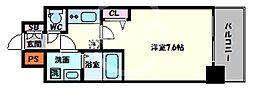 ララプレイス四天王寺前夕陽ヶ丘プルミエ 9階1Kの間取り