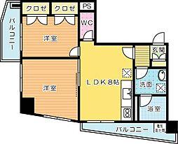 gala小倉 (ガーラコクラ)[8階]の間取り
