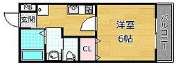 casa都丘[2階]の間取り