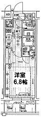 アクアプレイスOSAKA T2[202号室]の間取り