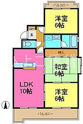 メゾンS&K[3階]の間取り