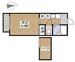 シャンルーネ昭島[2階]の間取り