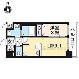 プレサンスTHEKYOTO澄華301 3階1LDKの間取り