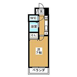 ムツミハイツ2[6階]の間取り