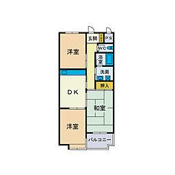 メゾン・ショージ2番館[1階]の間取り
