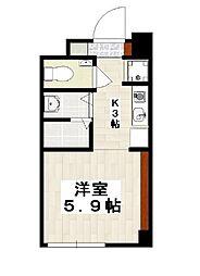 Little Island Okinawa 久茂地 3階1Kの間取り