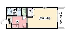 兵庫県西宮市二見町の賃貸アパートの間取り