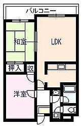 グリーンコートマンション[510号室]の間取り