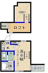 ラフィーネ香住ヶ丘2B棟[202号室]の間取り