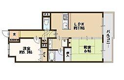 ライオンズマンション梅田中崎町[5階]の間取り