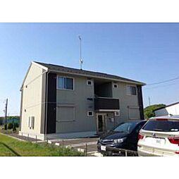 茨城県つくばみらい市小絹の賃貸アパートの外観