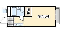 高田マンション 1階ワンルームの間取り
