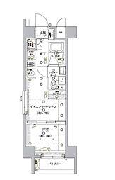 東京メトロ南北線 麻布十番駅 徒歩8分の賃貸マンション 1階1DKの間取り
