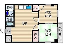 ホワイトハウス小柳[3階]の間取り