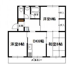 コーポかのう(3DK)[A301号号室]の間取り