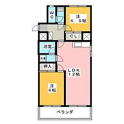 第2桜山ハイツ[3階]の間取り