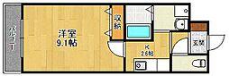 リタ 1st.[2階]の間取り