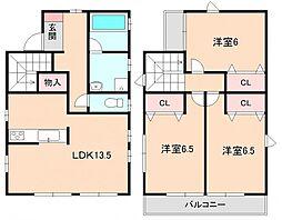 [一戸建] 大阪府豊中市熊野町2丁目 の賃貸【/】の間取り