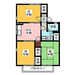 岩崎ハイツC[1階]の間取り