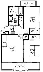 ポルカ富塚I[2階]の間取り