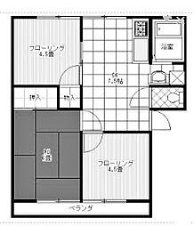 ドミール南成瀬[2階]の間取り