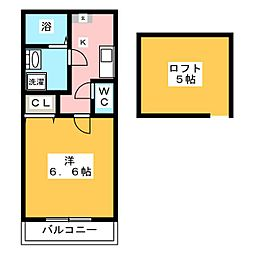 ピュア箱崎東 八番館[1階]の間取り