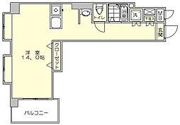 セントラルコート博多駅東[6階]の間取り