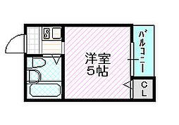 スペリオール石田[2階]の間取り