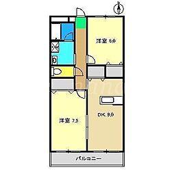 コーポアレスト[1階]の間取り
