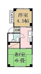 中原マンション[2階]の間取り
