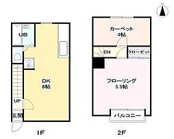 [テラスハウス] 東京都板橋区向原2丁目 の賃貸【東京都 / 板橋区】の間取り
