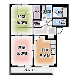 サンクレスト平久田[101号室]の間取り