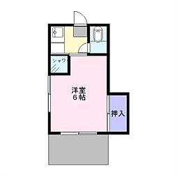 あけぼの荘[101号室]の間取り